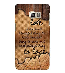 Love Is The Most Beautiful 3D Hard Polycarbonate Designer Back Case Cover for Samsung Galaxy Note 7 : Samsung Galaxy Note 7 N930G : Samsung Galaxy Note 7 Duos