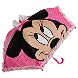 Disney Store Girls' Minnie Mouse Umbrella Pink Bow