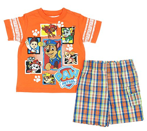 Paw Patrol Baby Toddler Boy Tee and Shorts Outfit Set