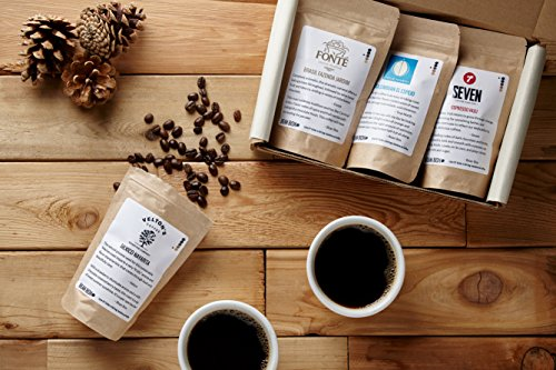 Bean Box Gourmet Coffee Sampler - (fresh roasted coffee gift box, specialty whole bean, 4 handpicked roasts, personalized gift note)
