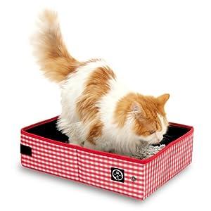 猫壱 猫壱 ポータブル トイレ 赤 折りたたみ