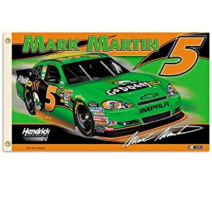 #5 Mark Martin Flag 3x5 2 sided 2011 by BSI