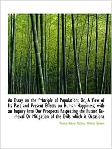 essay on the principle of population amazon