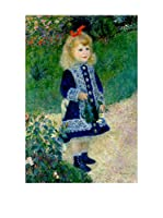 Especial Arte Lienzo A Girl with a Watering Can Multicolor