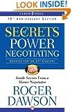 Secrets of Power Negotiating: 15th Anniversary Edition (Inside Secrets from a Master Negotiator)