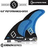 """(シェイパーズ フィン) SHAPERS FIN【6.0""""+SKS Carbon Stealth】JACKSON CLOSE BOX THRUSTER LONGBOARDフィン 2+1 シングルボックス スタビライザー"""