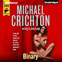 Binary Audiobook by Michael Crichton, John Lange Narrated by Christopher Lane