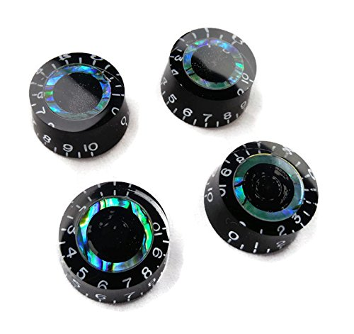 4 New Black Electric Guitar Speed Knobs Les Paul Abalone Blue Green B-Stock (Knob For Guitar compare prices)