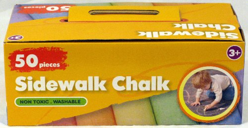 50 Pieces Colorful Sidewalk Chalk - 1