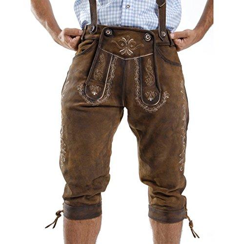 Almbock-Trachten-Lederhose-Vallentin-alt-antik-in-Gr-46-48-50-52-54-56-58-60-Bayrische-Kniebund-Lederhose-fesch-im-Trachten-Set-mit-Trachten-Hemd-Trachten-Weste-Trachten-Schuhen-Trachten-Socken