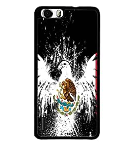Vizagbeats Eagle and snake Back Case Cover for HUAWEI HONOR 6 PLUS