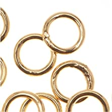 buy 22K Gold Plated Closed 6Mm Jump Rings 18 Gauge (20)