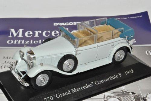 Mercedes-Benz 770 Grand Convertible Cabrio F 1932 Grau Inkl Zeitschrift Nr 7 1/43 Ixo Modell Auto