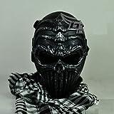 全16種類 サバゲー マスク 髑髏 ドクロ スカル エイリアン ターミネーター 般若 はんにゃ SK (骸骨 ダークグレー)