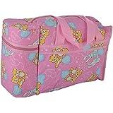 WonderKart Multi Purpose Baby Diaper Mother Bag With 2 Bottle Holders - Keep Baby Bottles Warm (Pink)