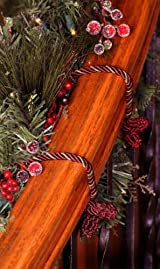 Decorative Garland Twist Ties- Burgundy/Gold, 6pk