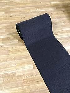 Amazon Com Custom Size Black Solid Plain Rubber Backed