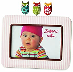Zutano Striped Frame, Owl