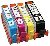 Compatible HP 364XL Printer ink Cartridges Combo Pack (1x Large Black, 1x Yellow, 1x Cyan, 1x Magenta) (1 Set (4 Pack)