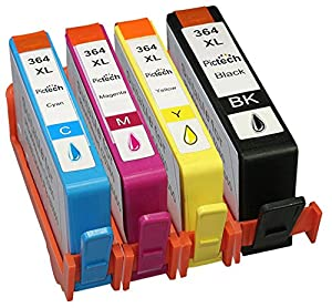 1 Set = 4 Compatible HP 364 XL Printer Ink Cartridge for HP Photosmart B8550, B8553, B8558, C6380, C6383, C5324, C5383, C5380, C6324, C5390, C5393, C5388, C5370, C5373, D5468, D5463, D5460, D7560, 5510, 5511, 5512, 5514, 5515, 5520, 5522, 5524, 6510, 6512, 6515, 6520, 7510, 7515, B010A, B110A, B110C, B110E, B111A, Photosmart Wireless B109A, B109D, B109F, B109N, Photosmart Plus B209A, B209C, B210A, B210C, B210D, Photosmart Premium C309A, C309N, C310A, C310B, C310C, C410B, Photosmart Estation C510A, C510C, Deskjet 3070A, 3520, 3522, 3524, Officejet 4620, Compatible with HP 364XL / CN684EE Black, HP 364XL Cyan, HP 364XL Magenta, HP 364XL Yellow, *High Capacity Ink cartridges **by Printer Ink Cartridges**