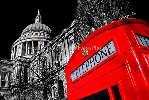 a-12x18-photograph-of-st-pauls-cathedral-and-a-red-telephone-box-london-england-united-kingdom-lands