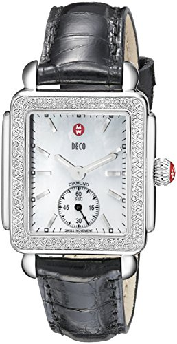 MICHELE-Womens-MWW06V000005-Deco-16-Analog-Display-Swiss-Quartz-Black-Watch