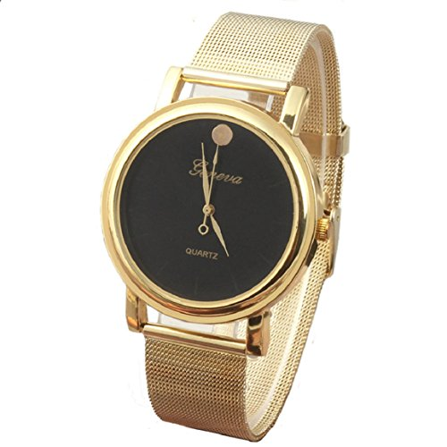 Changeshopping(Tm) New Lady Style Gold Classic Womens Quartz Stainless Steel Wrist Watch