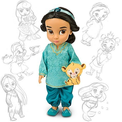 Disney Princess Animators' Collection Toddler Doll 16'' H - Jasmine with Plush Friend Raja рыба хариуз г красноярск