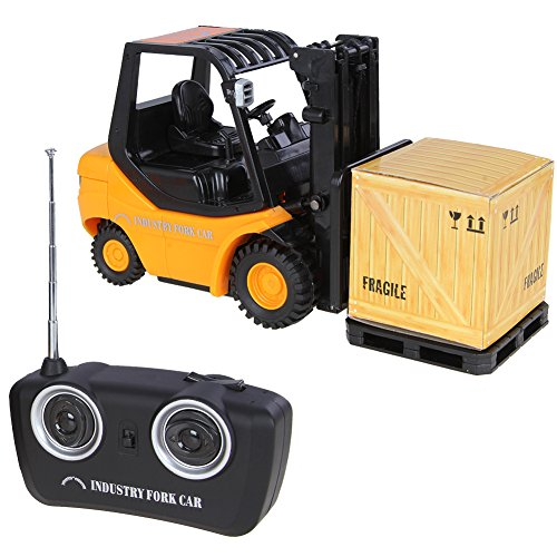 514iYblt tL New Mini RC Toy Forklift Radio Remote Control Truck Car Gift Toys For Kids (Yellow)