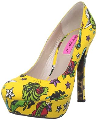 Betsey Johnson Women's Diskko Pump,Tattoo Print,5.5 M US