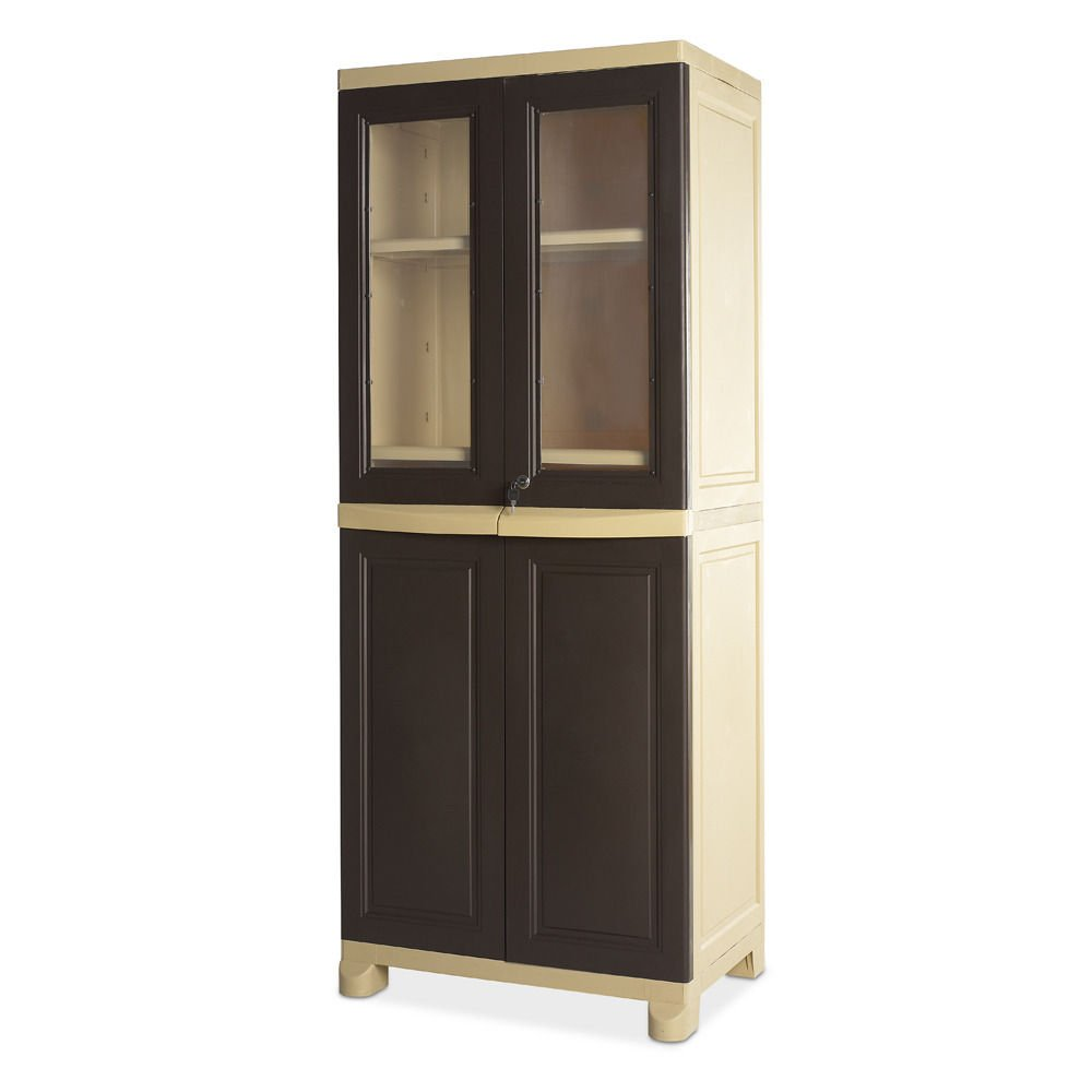 Nilkamal Kitchen Furniture Home By Nilkamal Freedom Cabinet Brown Amazonin Home Kitchen
