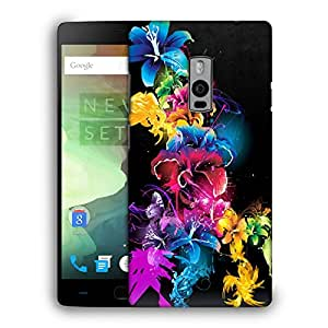 Snoogg Colorful Flowers Designer Protective Back Case Cover For ONEPLUS TWO