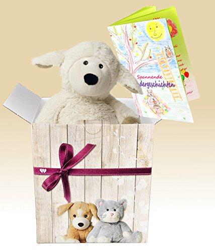 warmies-geschenkset-kuscheltier-beddy-bears-schaf-locke-sherpa-mit-minzduft-warmekissen-edle-geschen