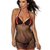 LoveFifi Women's Fishnet Fantasy Chemise thumbnail