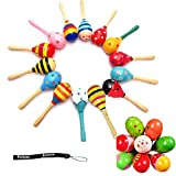 Estone 1pc Kid Baby Wooden Maraca Wood Musical Party Favor Child Shaker Beach Toys New