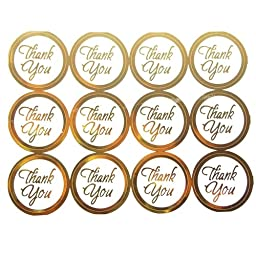 Firefly Imports FNS007337GLD 100 Count Thank You Print Wedding Foil Seal Stickers, 1\