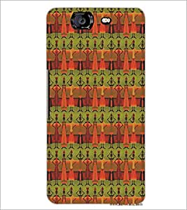 MICROMAX A350 CANVAS KNIGHT VILLAGERS PATTERN Designer Back Cover Case By PRINTSWAG