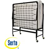Serta 39-inch Portable Rollaway Guest Office Spare Bedroom Bed with Twin Mattress