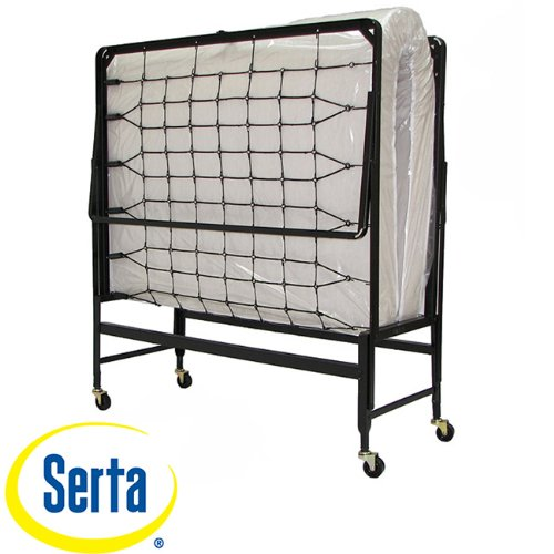 Serta 30-Inch Portable Rollaway Guest Office Spare Bedroom Bed With Twin Mattress front-944130
