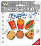Scribble Stuff Puzzle Erasers ~ Junk Food (Pizza, Hot Dog, Soda, Hamburger, Fries, Sandwhich; 6 Erasers)
