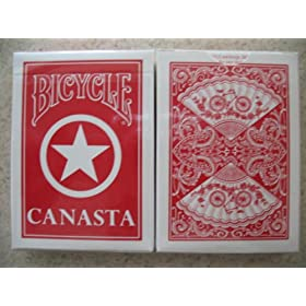 2 Decks Red Bicycle Canasta with Points Playing Cards