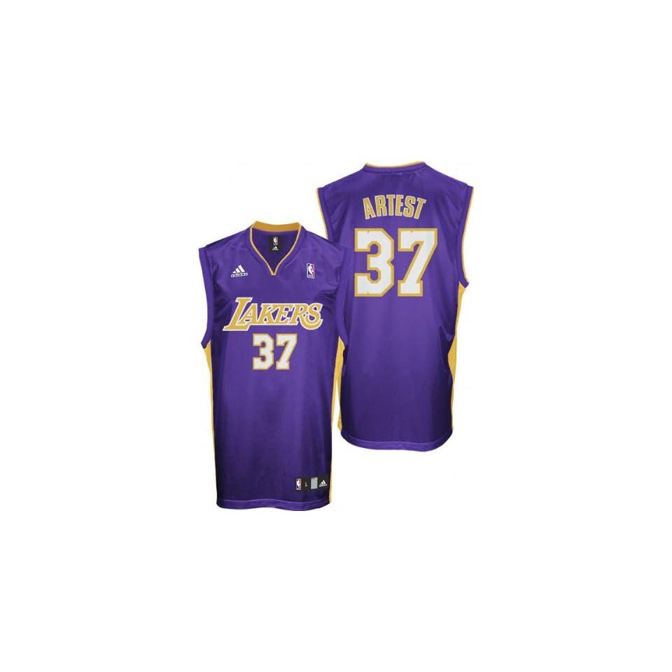 e96e485ad422 Ron Artest Purple adidas NBA Replica Los Angeles Lakers Jersey on ...