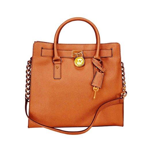 Michael Kors Hamilton Saffiano Tote Women'S Handbag Brown
