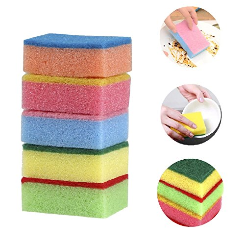 homgaty-20x-multicolour-sponges-with-scouring-pads-for-kitchens-bathrooms-and-heavy-duty-cleaning