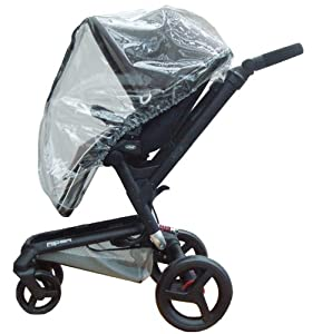 Koodee Raincover to Fit Jane Rider and Trider for Newborn (Transparent)