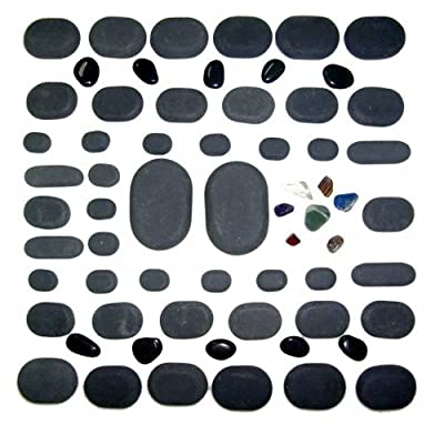 Sivan HEALTH and FITNESS Basalt Lava Hot Stone Massage, 60 Piece Kit