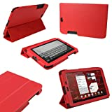 "IGadgitz Red PU Leather Case Cover for Motorola Xoom 2 Media Edition Droid Xyboard 8.2"" Android Tablet 16GB Wi-Fi 3G + Screen Protector"