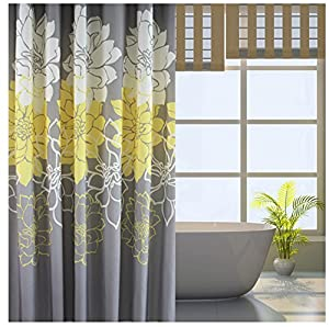 Amazon Eforgift Floral Printed Fabric Shower Curtain