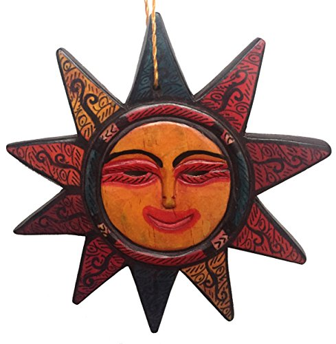 Guatemalan Hanging Sun Mask Home Decor