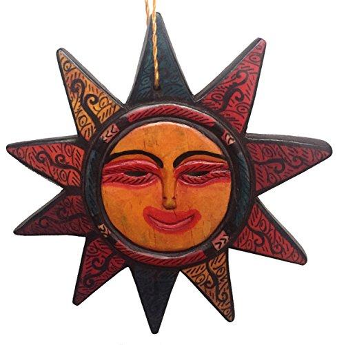Guatemalan Hanging Sun Mask Home Decor